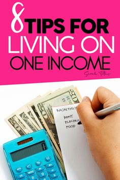 8 Tips on how to live on one income. Start living frugally and on a budget. These tips are perfect for stay at home moms looking for ways to save more money. Live on a low income with these tips. Ways To Save Money, Money Tips, Money Saving Tips, How To Make Money, Living On A Budget, Frugal Living Tips, Frugal Tips, Simple Living, Blogging