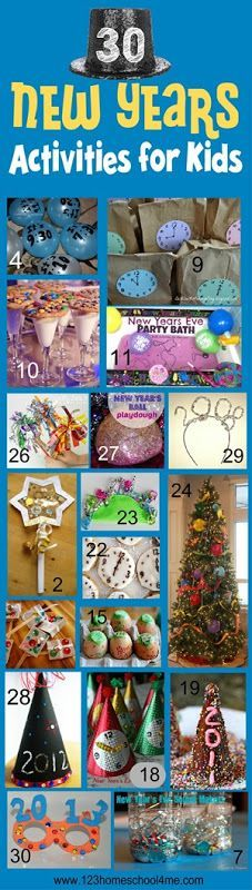 30 new years activities for kids - So many really fun, creative new years crafts and kids activities!