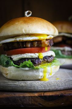 Why eat regular old beef burgers, when you can construct this monster, made with every single animal on the farm? Recipe included.