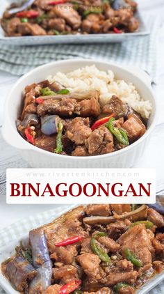 A classic binagoongan recipe made of pork belly slowly stewed in bagoong sauce made of tomatoes, garlic, onions, and chilies. The pork is tender yet firm; the sauce is rich, savory with a perfect balance of sweetness and saltiness. Filipino Dishes, Filipino Recipes, Asian Recipes, Filipino Food, Healthy Dishes, Food Dishes, Easy Cooking, Cooking Recipes