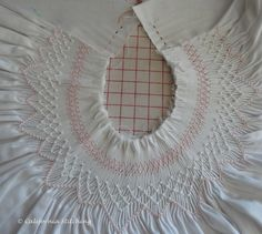 bishop smocking designs | did manage to finish the smocking and block it before proceeding on ...