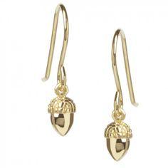 Muru Gold Plated Acorn Drop Earrings £40
