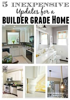 Transform your builder grade home with these inexpensive updates!