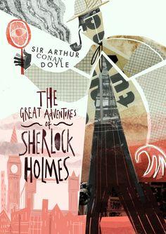 """Copertina realizzata da Karl James Mountford per il libro """"Le grandi avventure di Sherlock Holmes"""""""