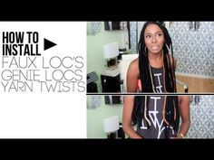 How To Install Faux Locs/ Yarn Twists/ Yarn Wraps Protective styles natural hair