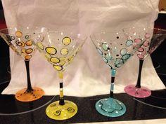 Colorful martini bubbles