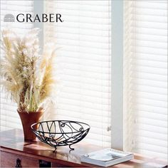 "Graber Blinds and Shades  - pictured are our gorgeous Lake Forest 2"" Faux Wood Blinds."