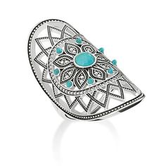 Official Thomas Sabo Ethno Dreamcatcher Ring from The Jewel Hut. Shop our gorgeous collection of jewellery and watches and get FREE delivery. Bijoux Thomas Sabo, Thomas Sabo Bague, Turquoise Rings, Turquoise Bracelet, Dreamcatcher Design, Style Boho, Pave Ring, Cute Jewelry, Ring Earrings