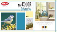 Bahama Sea - Krylon GLOSS - May 2013 Color of the Month -  #home #paint #diy