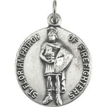 St Florian Simple Round Solid Sterling Silver Patron of Firefighters Medal - Fine Jewelry Fashion St Florian, Jewelry Gifts, Fine Jewelry, Jewelry Design, Designer Jewelry, Precious Metals, Pocket Watch, Saints, Fashion Jewelry