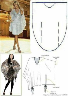 Patterns by means of which even the schoolgirl will manage to sew a dress the hands.What About Amazing Easy Sewing Projects ? Sewing Dress, Diy Dress, Sewing Clothes, Tunic Sewing Patterns, Clothing Patterns, Dress Patterns, Fashion Sewing, Diy Fashion, Ideias Fashion