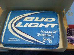 Birthday cake for boyfriend bud light Ideas Birthday Cakes For Men, Birthday Cake For Boyfriend, New Birthday Cake, Birthday Crafts, Man Birthday, Birthday Cupcakes, Birthday Ideas, Happy Birthday, 25th Birthday