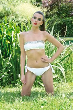 White symbolises purity #jogswimwear #nature #greenery #bikini #girlsinbikini #swimwear #summer2016 #funinthesun  #white #cuts #artonbody #bandeau #outinthenature