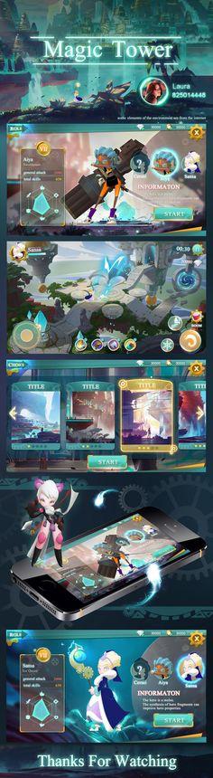 魔法类游戏UI概念设计 on Behance