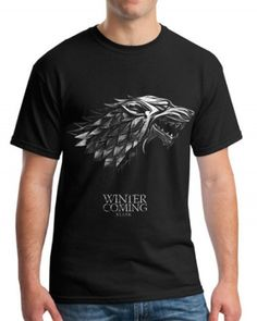 Game of Thrones t shirt for men House Stark Wolf t shirt for men XXXL Lion Print, Wolf T Shirt, Man Games, House Stark, Lions, Game Of Thrones, Cool Designs, Casual, Mens Tops