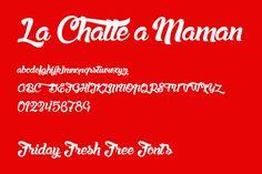Free Font / La Chatte a maman