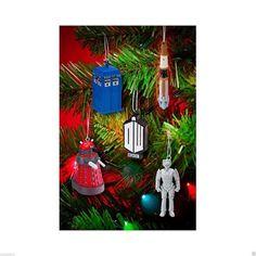 428366c8c5d BBC Doctor WHO 5pc Holiday ORNAMENT GIFT SET Dalek SONIC Cyberman TARDIS +  Adler
