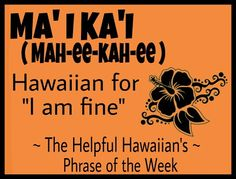 Hawaiian Phrase of the Week Hawaiian Words And Meanings, Hawaiian Phrases, Hawaiian Quotes, Hawaii Vacation, Hawaii Travel, Hawaii Language, Mahalo Hawaii, All About Hawaii, Hawaii Life
