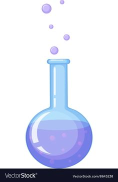 Beaker filled with chemical substance vector image on VectorStock Science Clipart, Science Classroom Decorations, Mad Scientist Party, Chemical Substances, Education Information, Science Party, Nature Images, Doll Toys, Fireworks