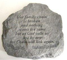 The Broken Chain Verse Memorial Garden Stone . $44.99. The Broken Chain Verse Memorial Garden Stone