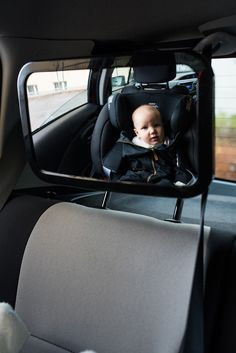 Baby Car Mirror for Back Seat - Best Wide Headrest Mirror for Newborn Safety, Clear Reflection & Shatterproof, Easy Installation and Adjustable Baby Car Mirror, Ideal Fit, Back Seat, Having A Baby, Baby Car Seats, Baby Strollers, Angel, Children, Design
