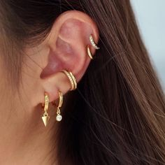 FB Jewels 925 Sterling Silver Pyramid Bar Earrings