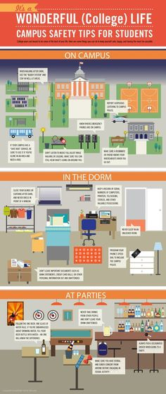A helpful infographic sharing campus safety tips #campussafety