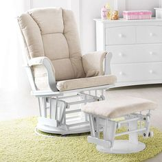 Glider ($350) Babies may eventually associate their glider with comfort, sleep, and time with their caregiver.
