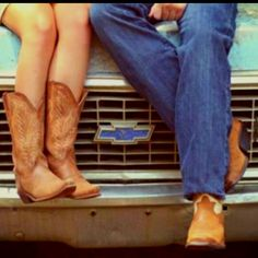 Country Love.. He's a Chevy Truck Driver!!
