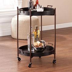 Indoor Multi-function Accent table Study Computer Desk Bedroom Living Room Modern Style End Table Sofa Side Table Coffee Table Two-Layer Butler Table Diy Bar Cart, Gold Bar Cart, Bar Cart Decor, Bar Redondo, Table Sofa, Butler Table, Butler Tray, Rolling Table, Rolling Carts