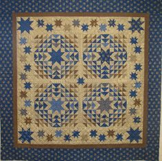 The Star Spangled Quilt from Planted Seed Designs. Kits available at www.hollyhillquiltshoppe.com.