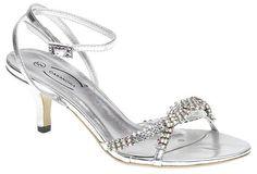 wedding short heels for bride | silver wedding shoes low heel