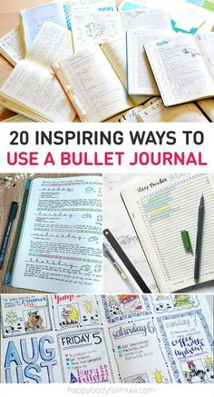 20 Inspiring Ways To Use A Bullet Journal and Passion Planners