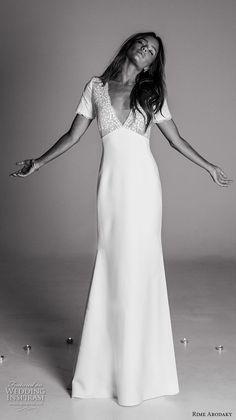 Vestido de #novia sencillo. Rime arodaky fall 2017 bridal.