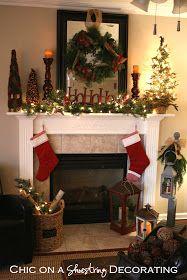 rustic christmas mantel