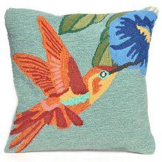 Liora Manne Hummingbird Sky Throw Pillow, Blue