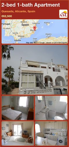 Apartment for Sale in Quesada, Alicante, Spain with 2 bedrooms, 1 bathroom - A Spanish Life Apartments For Sale, Valencia, Portugal, Crazy Golf, Alicante Spain, Spanish House, Open Plan Kitchen, Double Bedroom, Palmas