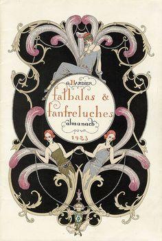 Falbalas et Franfeluches almanach pour 1923 // illustration by Georges Barbier