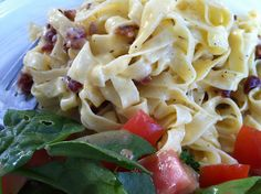 Recipe: Spaghetti Carbonarra with Lamb Bacon | Another Day - Another Mom