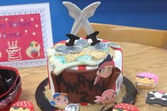 Jack the pirate cake Jack The Pirate, Birthday Cake, Desserts, Food, Tailgate Desserts, Birthday Cakes, Meal, Dessert, Eten