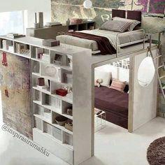 Wohnlandschaft Mit Bettfunktion   Ein Kleines Ambiente Ausstatten |  Pinterest | Room, Lofts And Bedrooms