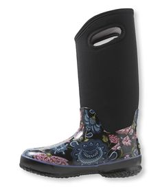 Women's Bogs Rain Boots, Tall Classic Winter Blooms