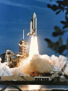 The Space Shuttle Columbia began a new era of space transportation when it lifted off from Kennedy Space Center on April 12, 1981. Aboard the spacecraft were astronauts John Young, STS-1 commander, and Robert Crippen, the pilot. (Photo: NASA)