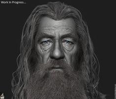 Gandalf the Grey - WIP by Hossein Diba | Portrait | 3D | CGSociety