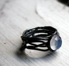 Tangled Chalcedony Nest Ring by Rachel Pfeffer
