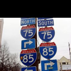 Interstate Signs - A common sight in Atlanta, Georgia  #DTNFallContest