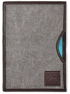 4789b69c16 Metier Life Passport Sleeve Cover   Travel Wallet - Canvas with Faux  Leather (Charcoal Brown)