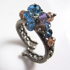 London Blue Ring by glowfly on Etsy, $76.00