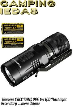 (This is an affiliate pin) Nitecore CREE XML2 900 lm LED Flashlight Secondary Red with 18350 Battery, Black, Left/Right Left And Right, Camping Lights, Led Flashlight, Personal Care, Black, Red, Self Care, Black People, Personal Hygiene