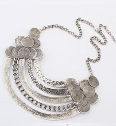 Extravagant Luxurious Alloy Silver Necklace
